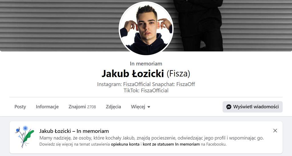 Profil Jakuba Łozickiego na Facebooku