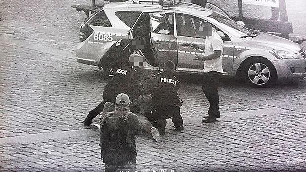 Zatrzymanie Igora Stachowiaka na Rynku we Wrocławiu