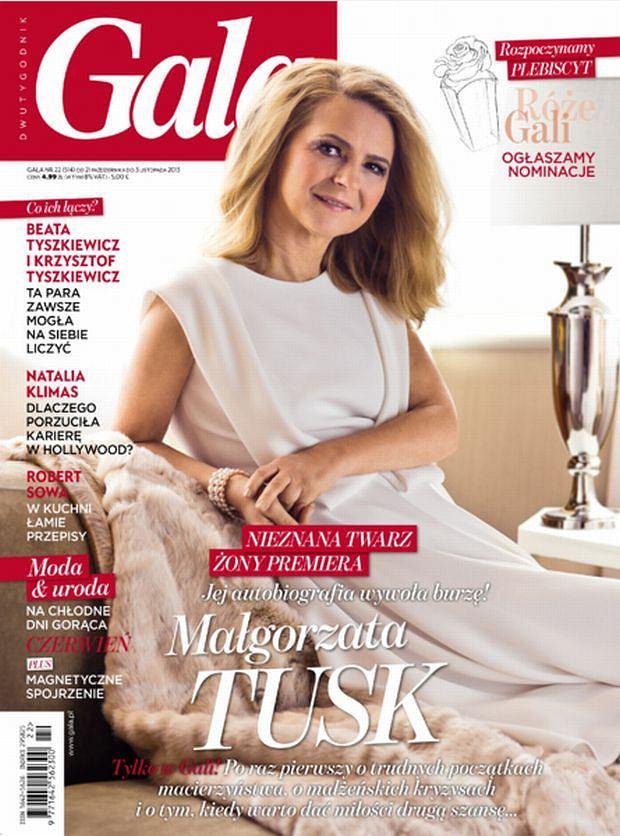 Małgorzata Tusk, okładka, gala