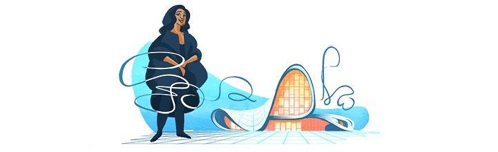 Zaha Hadid w Google Doodle