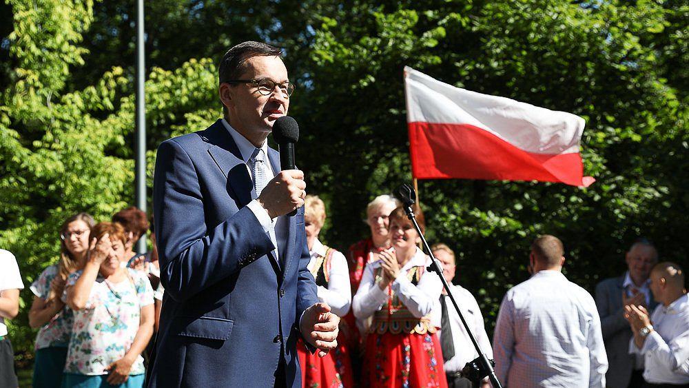 Premier Mateusz Morawiecki w Tomaszowie Lubelskim