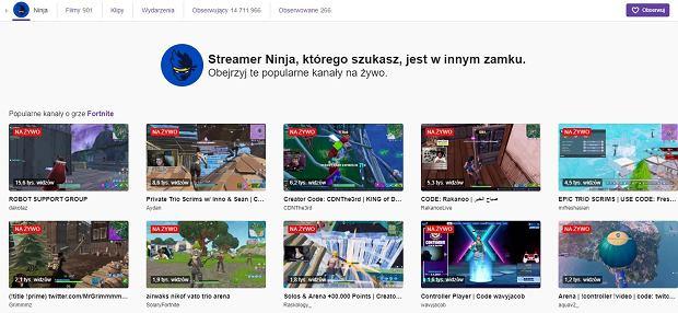 Ninja przeniósł się na Mixera