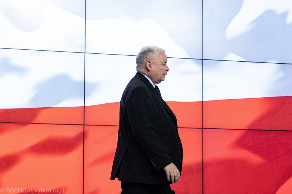 Jarosław Kaczyński w siedzibie PiS na Nowogrodzkiej