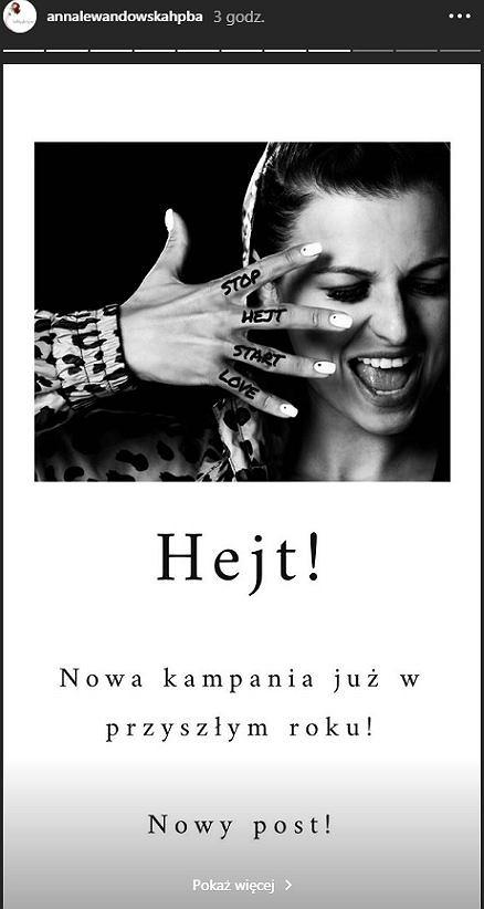 Anna Lewandowska zaczyna walkę z hejterami. Stworzyła specjalną kampanię