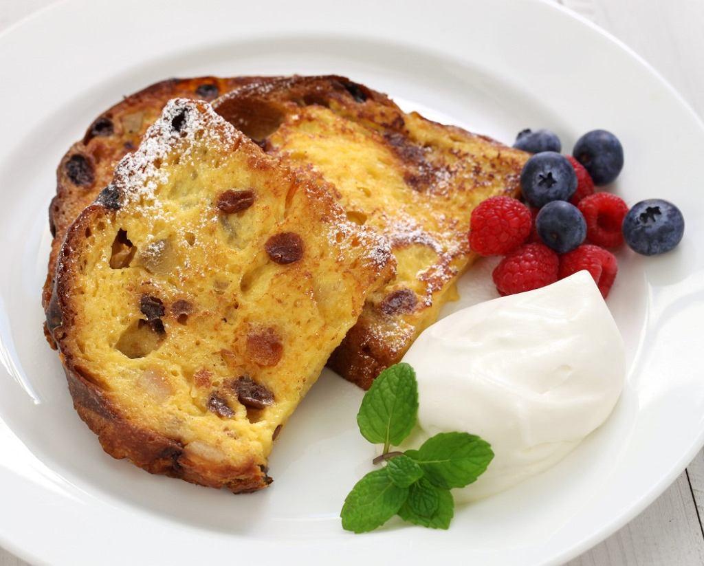 Tosty francuskie z ciasta drożdżowego