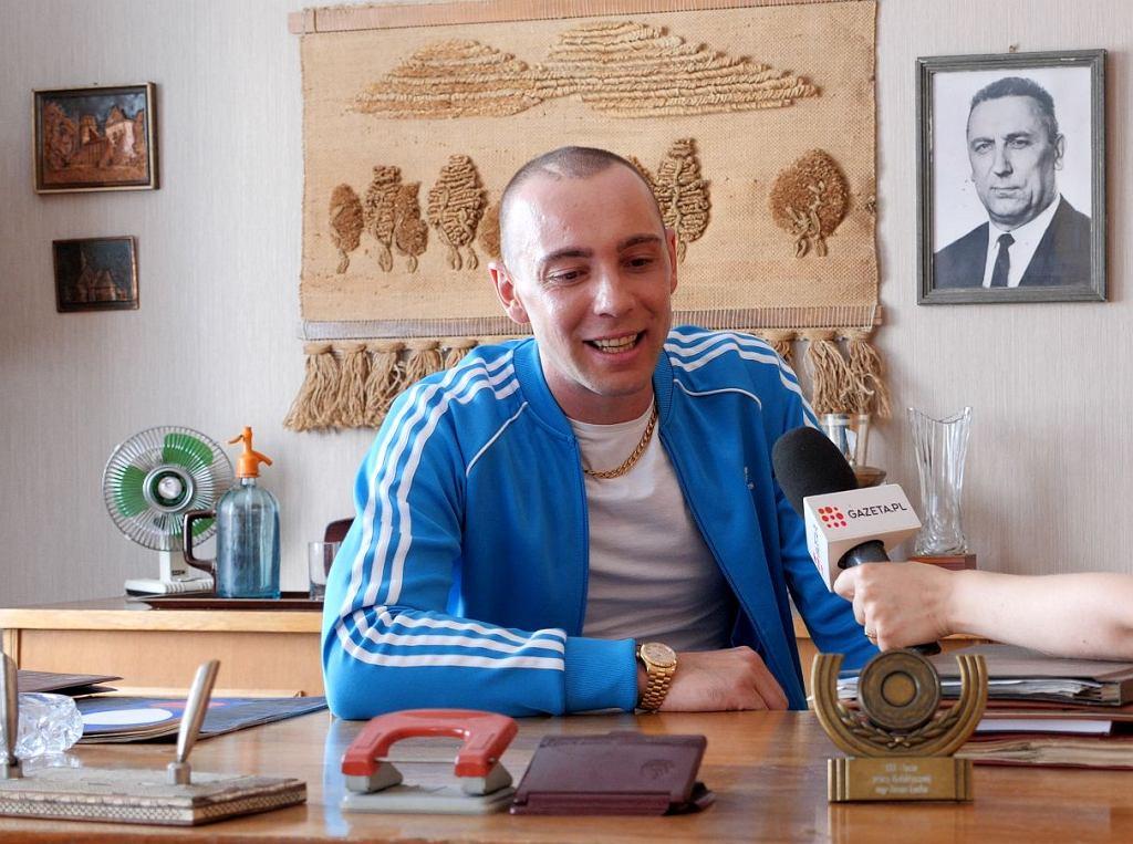Marcin Kowalczyk na planie 'Jak zostałem gangsterem'