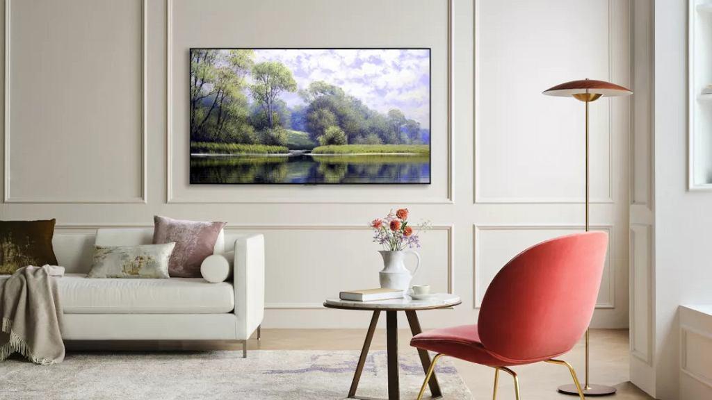 Telewizory LG G1 Gallery doskonale wyglądają na ścianie.