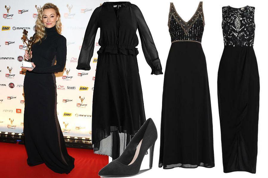 czarne sukienka maxi