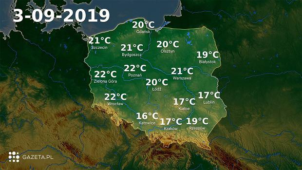 Pogoda na dziś - wtorek 3 września.
