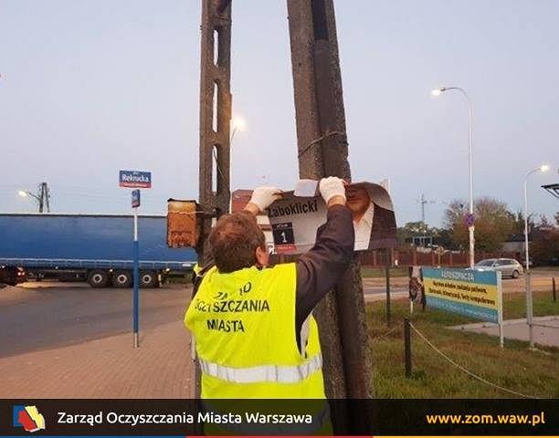 Trwa sprzątanie Warszawy z wyborczych plakatów