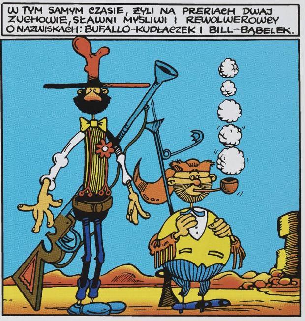 wielki czarny kogut komiks