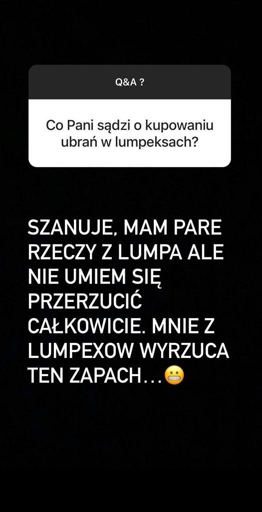 Zofia Zborowska o lumpeksach