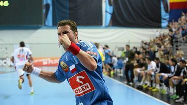 Liga Mistrzów, piłka ręczna. Mecz Orlen Wisła Płock - MKB MVM Veszprem (34:33). Mariusz Jurkiewicz