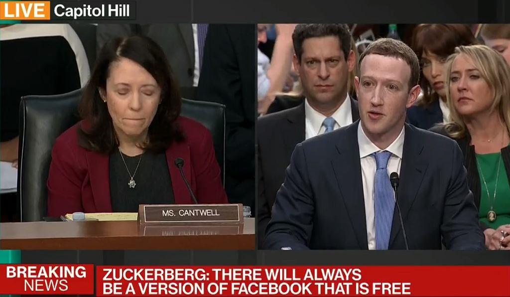 Przesłuchanie Marka Zuckerberga przed senackimi komisjami do spraw handlu i sprawiedliwości