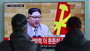 Południowokoreańska TV pokazuje przywódcę Północy Kim Dzong Una