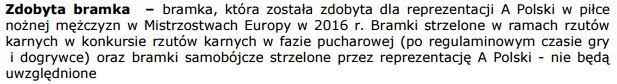 Fragment regulaminu 'Lokata Kibica' w Alior Banku