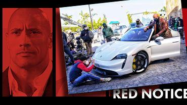 Dwyane 'The Rock' Johnson w Porsche Taycan