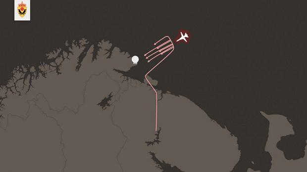 Grafika obrazująca symulowany atak pokazana przez norweski wywiad