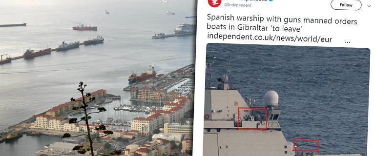 Gibraltar. Hiszpański okręt chciał