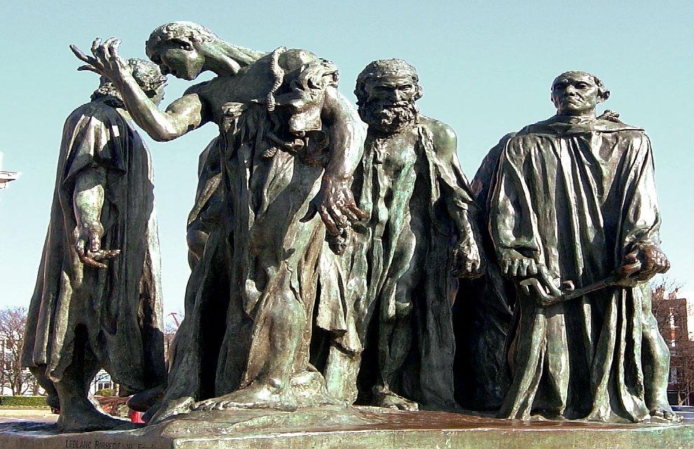 Tytuł nowej rzeźby Pawła Althamera 'Mieszczanie z Bródna' będzie nawiązywać do pracy słynnego XIX wiecznego francuskiego rzeźbiarza Augusta Rodina pt. 'Mieszczanie z Calais' (jeden z odlewów rzeźby stoi w Londynie, nieopodal Parlamentu).