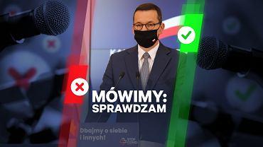 """Morawiecki: """"Wygrywamy z epidemią, dane nie kłamią"""". To przedwczesna radość i spora niezręczność"""