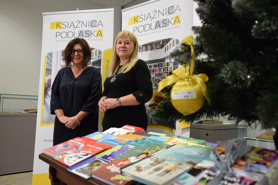 Szefowe: podlaskiego oddziału Wspólnoty Polskiej - Anna Kietlińska i Książnicy - Jolanta Gadek