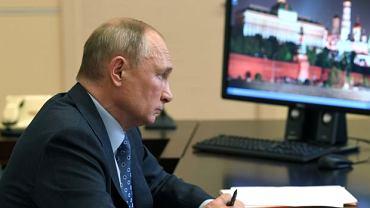 Kreml. Prezydent Rosji Władimir Putin