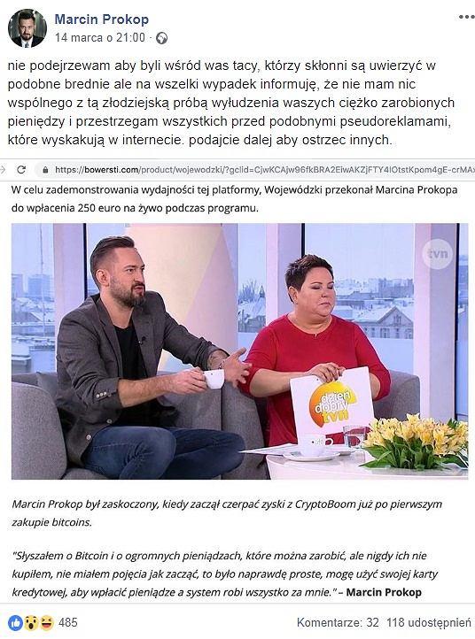 Oświadczenie Marcina Prokopa