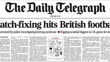 """Okładka """"Daily Telegraph"""""""