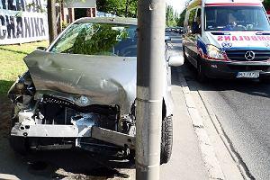 Zderzenie 3 aut na Żwirki i Wigury. Kierowca pijany
