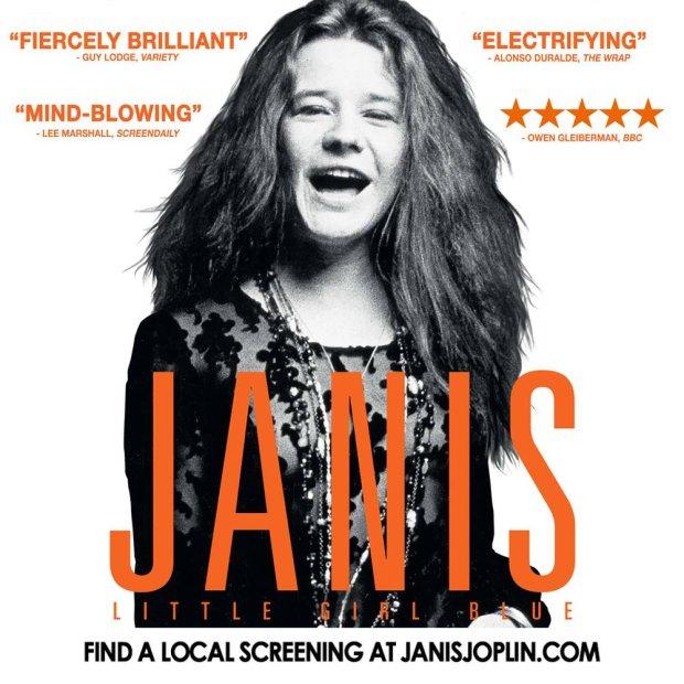 Plakat promujący film o Janis Joplin