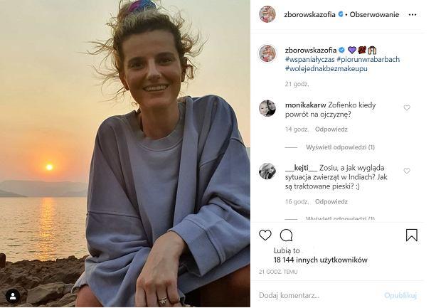 Zofia Zborowska w Indiach (Instagram)