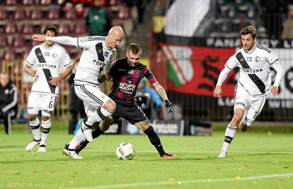 Spas Delev podczas ostatniego meczu Pogoni Szczecin z Legią Warszawa. Jesienią portowcy wygrali 3:2