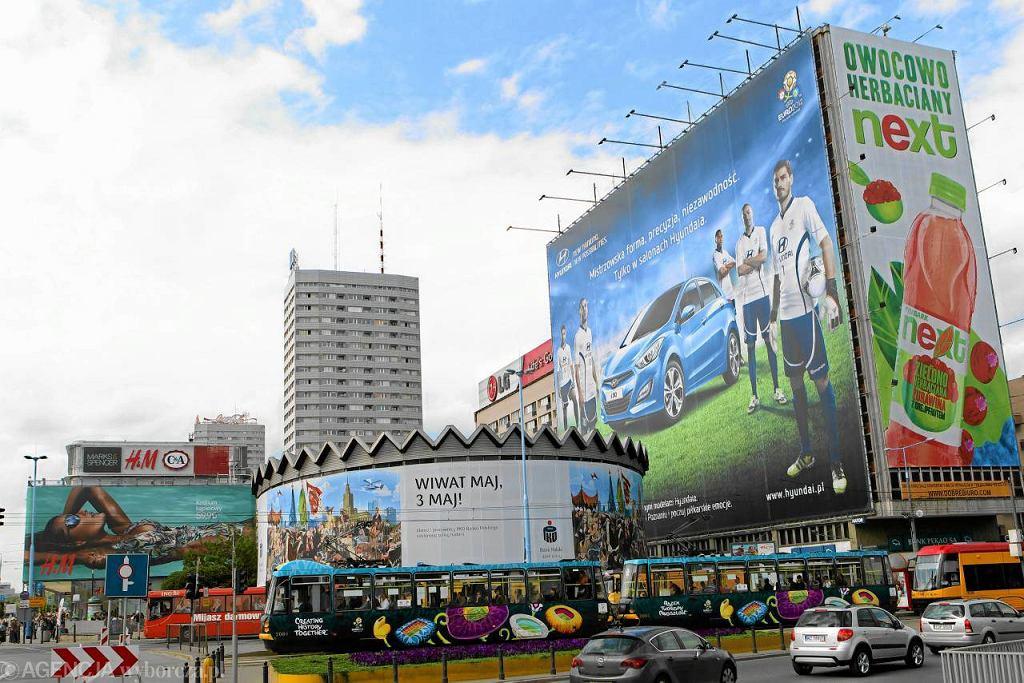 Reklamy w centrum Warszawy. Tak wyglądało rondo Dmowskiego na kilka dni przed Euro 2012