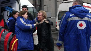 Ofiara wybuchu w metrze w Petersburgu
