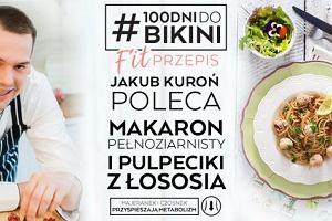 Jakub Kuroń poleca: Makaron pełnoziarnisty z pulpecikami z łososia i zielonym sosem