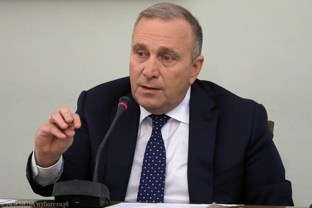 Grzegorz Schetyna przed Komisja ds VAT