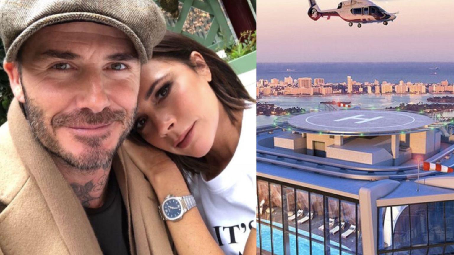 David i Victoria Beckhamowie kupili dom w drapaczu chmur za 100 milionów. Mają basen i lądowisko dla helikopterów