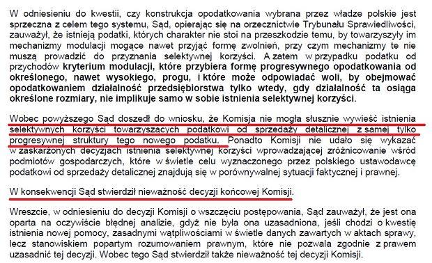 Sąd UE o podatku handlowym w Polsce