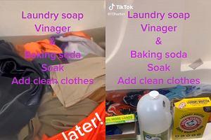 Tata zrobił proszek do prania z trzech produktów. Nie mógł uwierzyć jak brudne były ubrania jego dzieci