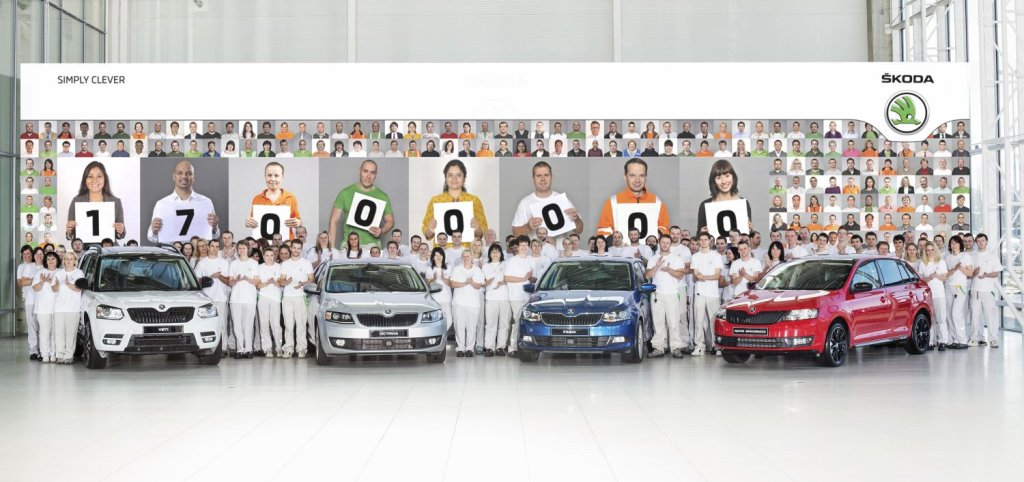 17 milionów samochodów Skody