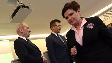 Premier rządu PiS Beata Szydło i ministrowie