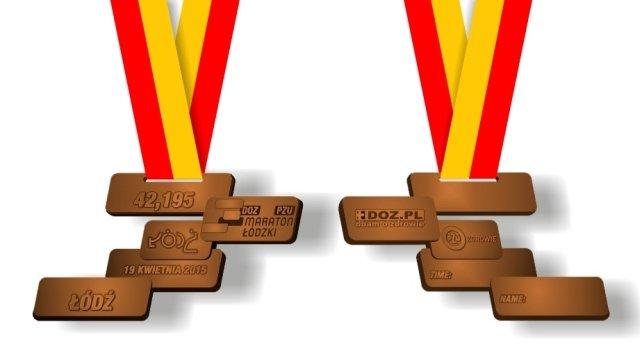 Projekt medalu DOZ Maraton Łódzki z PZU