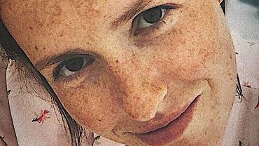 Olga Frycz bez makijażu
