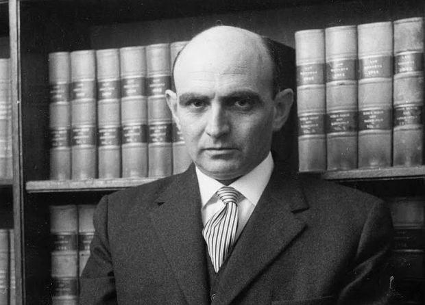 Prokurator Gidon Hausner (1915-90), główny oskarżyciel zbrodniarza