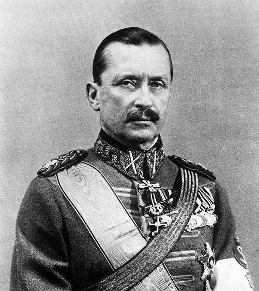 Carl Gustaw Emil Mannerheim, marszałek fińskiej armii, 6. prezydent Finlandii, żył w latach 1867-1951