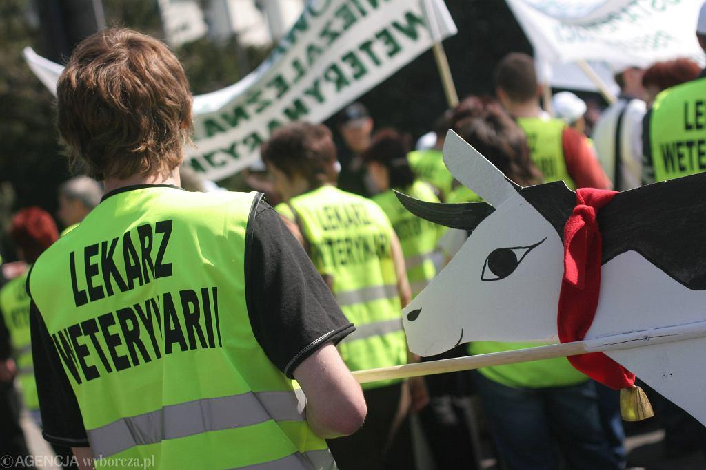 Protest weterynarzy pod Sejmem, 2007 r.