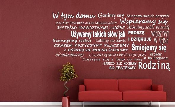 Napisy na ścianę - domowa lista zasad