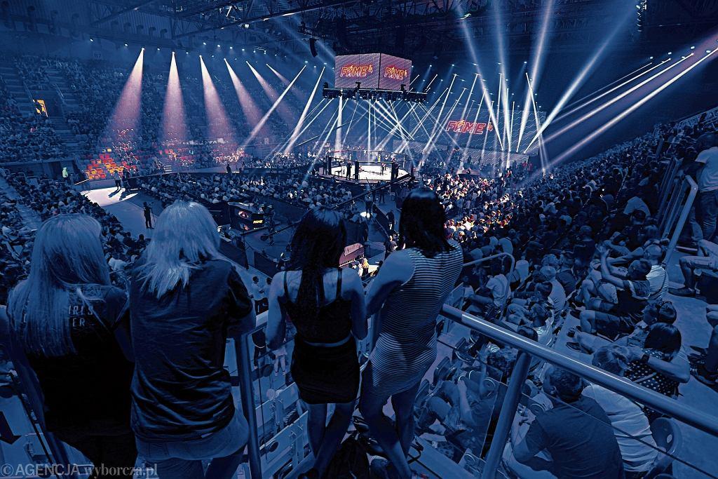Organizatorzy Fame MMA wyliczają, że do tej pory na nielegalnych transmisjach stracili 3,8 mln zł. Na zdjęciu: gala Fame MMA w Częstochowie, 22 czerwca 2019 r.