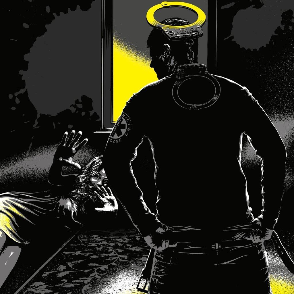 Ilustracja do tekstu J. Kopińskiej o gwałcie w pogotowiu ratowników medycznych w Elblągu (rys. Piotr Chatkowski)